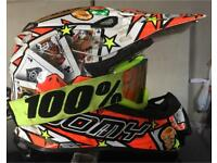 Motocross Helmet Comes with Goggles, Suomy