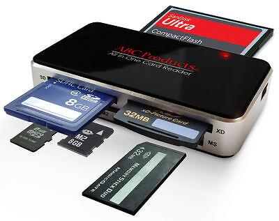 ALL IN 1 MULTI MEMORY CARD USB READER READS SD SDHC MINI MICRO M2 MMC XD CF