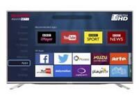 "New silver sharp 55"" 4k uhd smart tv"