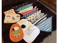 Good condition collection of baby bibs