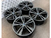 """GENUINE 442 BMW 19"""" ALLOY WHEELS *AVAILABLE WITH TYRES* 5 x 120 - SHADOW CHROME"""