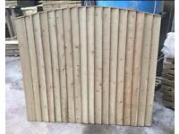 🍀•New• Pressure Treated Feather Edge Bow Top Wooden Garden Fence Panels ~ 6X5