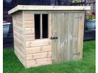 Wooden Dog Kennel Pressure Treated 5x4 Tanalised T&G Compact Kennel 5FT x 4FT