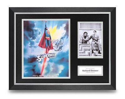 Richard Donner Signed 16x12 Framed Photo Display Superman Autograph Memorabilia