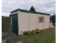 Single Concrete Garage - Free to Collector - Sectional Panels & Metal Door