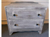 Painted Wooden Chest of Drawers