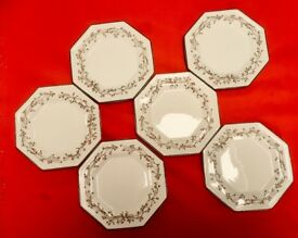 "ETERNAL BEAU SET OF SIX SIDE PLATES SIZE 6"". Total of three sets available (18 plates)"