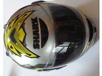 SHARK CRASH HELMET - Medium - Excellent as new condition - spare helmet rarely ever used = £75