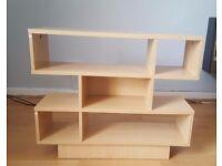 Small pine effect bookshelf