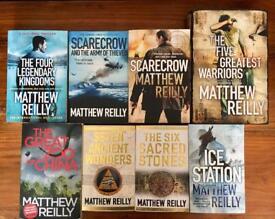 Matthew Reilly Books x 8
