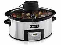 *Brand New Crock Pot* (Serves 6 or more) Digital Silver Stainless Steel - 5.7L CSC012/X - For Sale