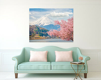 3D Mount Fuji 8 Wall Stickers Vinyl Murals Wall Print Deco Art AJ STORE AU Lemon ()
