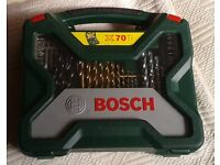 BOSCH X70 ti Storage Case and Drill Bits, Brand New.