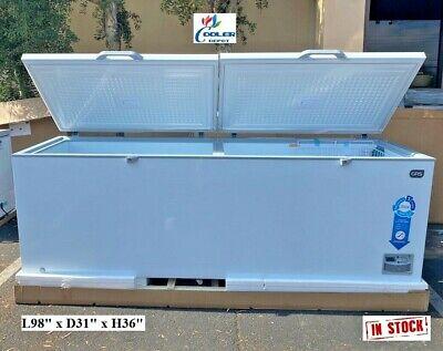 New 98 Chest Deep Freezer Top Lid Market Meat Fish - 98 X 31 X 36 - 110v