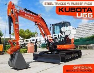 KUBOTA U55 5.5 Ton Compact Excavator with Rubber pads Brisbane City Brisbane North West Preview