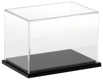 Plymor Clear Acrylic Display Case With Black Base 6 X 4 X 4