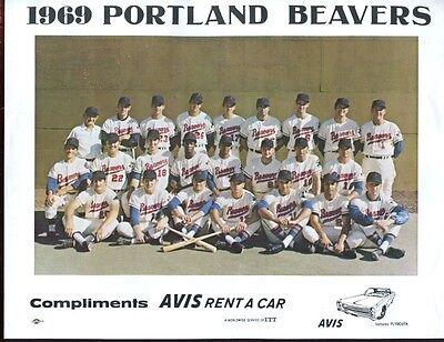 1969 Avis Portland Beavers Team 8 X 10 Photo