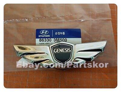 For Hyundai Genesis Sedan 2008-2013 Rear Trunk Wing Emblem 86330 3M500 Genuine