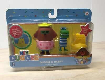 HEY DUGGEE- Duggee And Happy Visit The Beach- 4 Toys Per Package - Beach Toys And Games