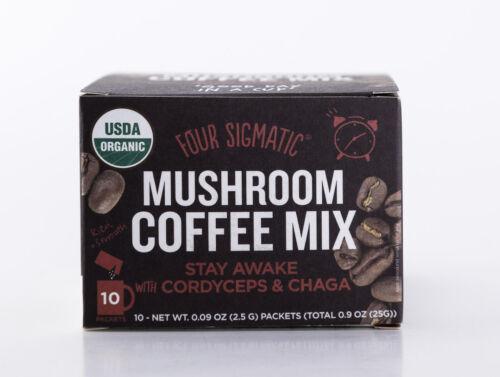 Four Sigmatic - Mushroom Coffee Mix - Cordyceps & Chaga - 10 Packets