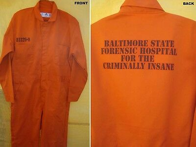Hannibal Lecter Orange Baltimore Prison Jumpsuit Halloween Costume Top Quality   - Orange Halloween Costumes