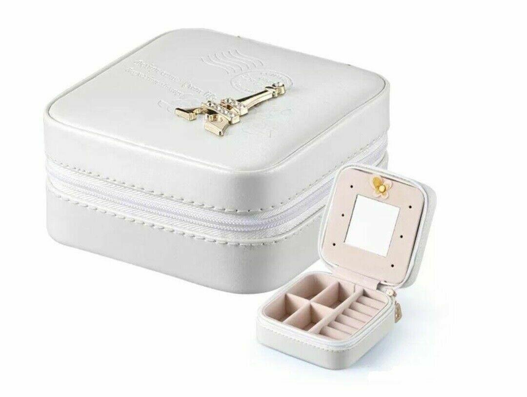 Mini Gift Box Jewelry Storage Case Organizer Eiffel Tower Small with Mirror Jewelry & Watches
