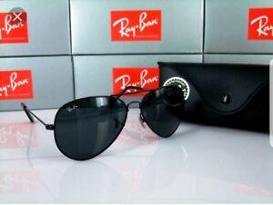 Ray-Ban Aviator Black Lens Sunglasses RB3025 58mm