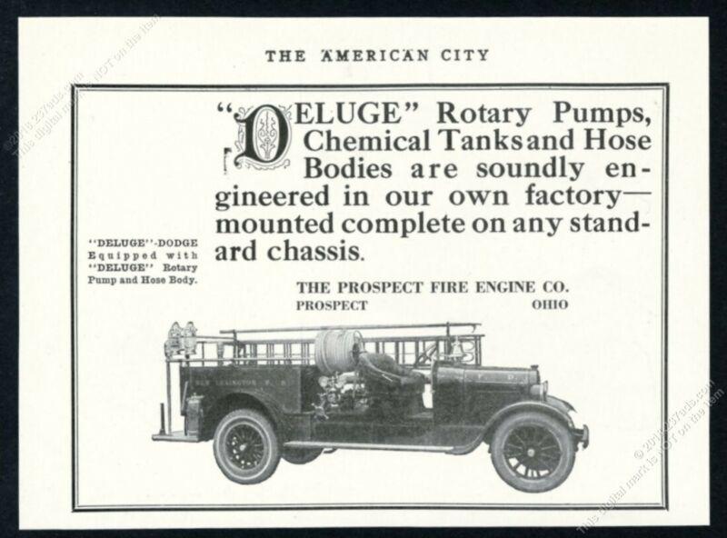 1925 Dodge Prospect fire engine New Lexington Ohio truck photo vintage print ad