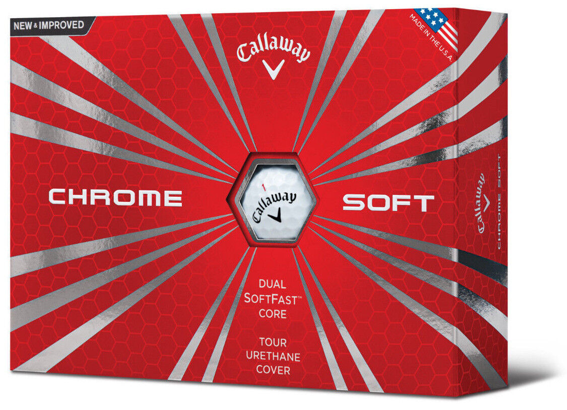 Callaway 2016 Chrome Soft Golf Balls *1-Dozen* White