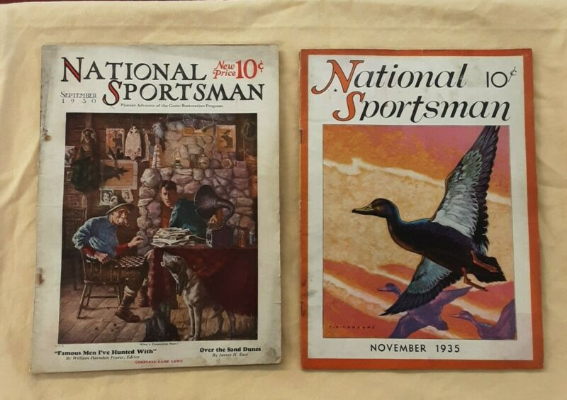 National Sportsman Magazine Vintage September 1930 & November 1935 Issues