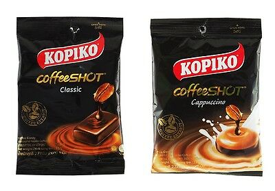 NEW PACK ! KOPIKO CoffeeSHOT COFFEE CANDY CAPUCCINO &CLASSIC BEST SELLER