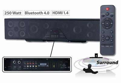 Auvisio 6-Kanal-3D-Soundbar 5.1-Surround-Sound BT 4.0 HDMI 250 Watt Lautsprecher