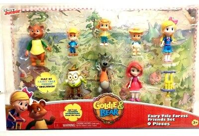 New Disney Goldie & Bear Fairy Tale Forest Friends Set Doll Figures Characters - Female Fairytale Characters