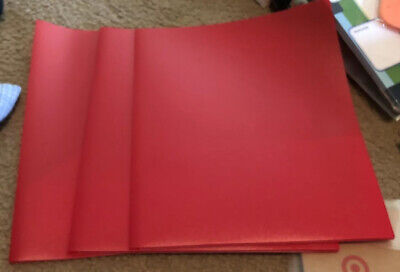 3-staples Poly 2-pocket Poly Port Folder Res 5281911.34x9.37in. New Lot 3