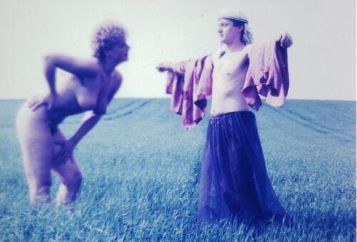 Erotik Foto Aktfoto Frau Nackt  Nude FKK  (Neuer Abzug vom alten Original Dia)