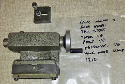 Emco Maximat 7 Lathe Mt2 Tail Stock Tailstock Inch Based 1210