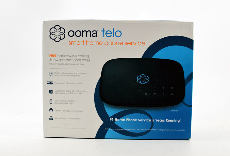 Ooma Telo Smart Home Phone Service, Brand New - Fast Shipping