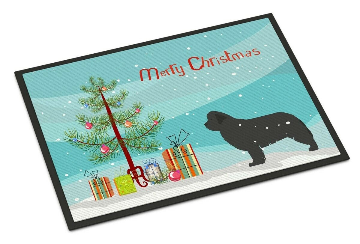 Details About Carolines Treasures Newfoundland Merry Christmas Tree Indoor Outdoor Mat 18 X 27