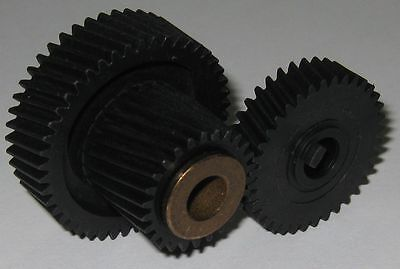 Matching Helical Gear Set - 40mm 46T - 22mm 26T - 33mm 36T - 8mm Bore  Dual Gear
