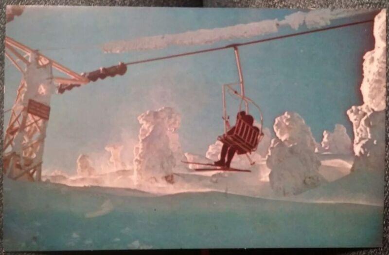 1960s Killington Ski Area Vermont POSTCARD Double Chairlift, Robert Perry K6