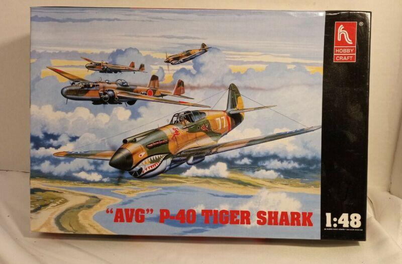 "Hobby Craft HC1451 1/48 Scale ""AVG"" Tiger Shark (Parts Are Sealed)"