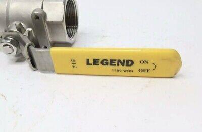 Legend 1-12 T-715 Large Port 316 Stainless Steel Ball Valve Locking Handle