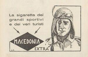 Z1201 Sigarette MACEDONIA EXTRA - Pubblicità d'epoca - 1932 Old advertising - Italia - L'oggetto può essere restituito - Italia