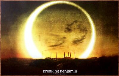 BREAKING BENJAMIN Dark Before Dawn 2015 Ltd Ed RARE Poster +FREE Rock/Alt Poster