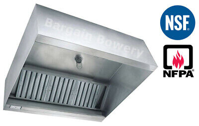 16 Ft Restaurant Commercial Kitchen Box Grease Exhaust Hood Type I Hood Nsf