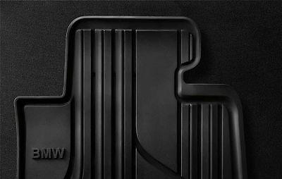BMW Genuine All Weather Rubber Rear Car Floor Mats Black F30F31 51472219802