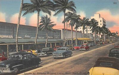 LINCOLN ROAD EXCLUSIVE SHOPPING CENTER MIAMI BEACH FLORIDA POSTCARD (c. (Lincoln Center Miami)