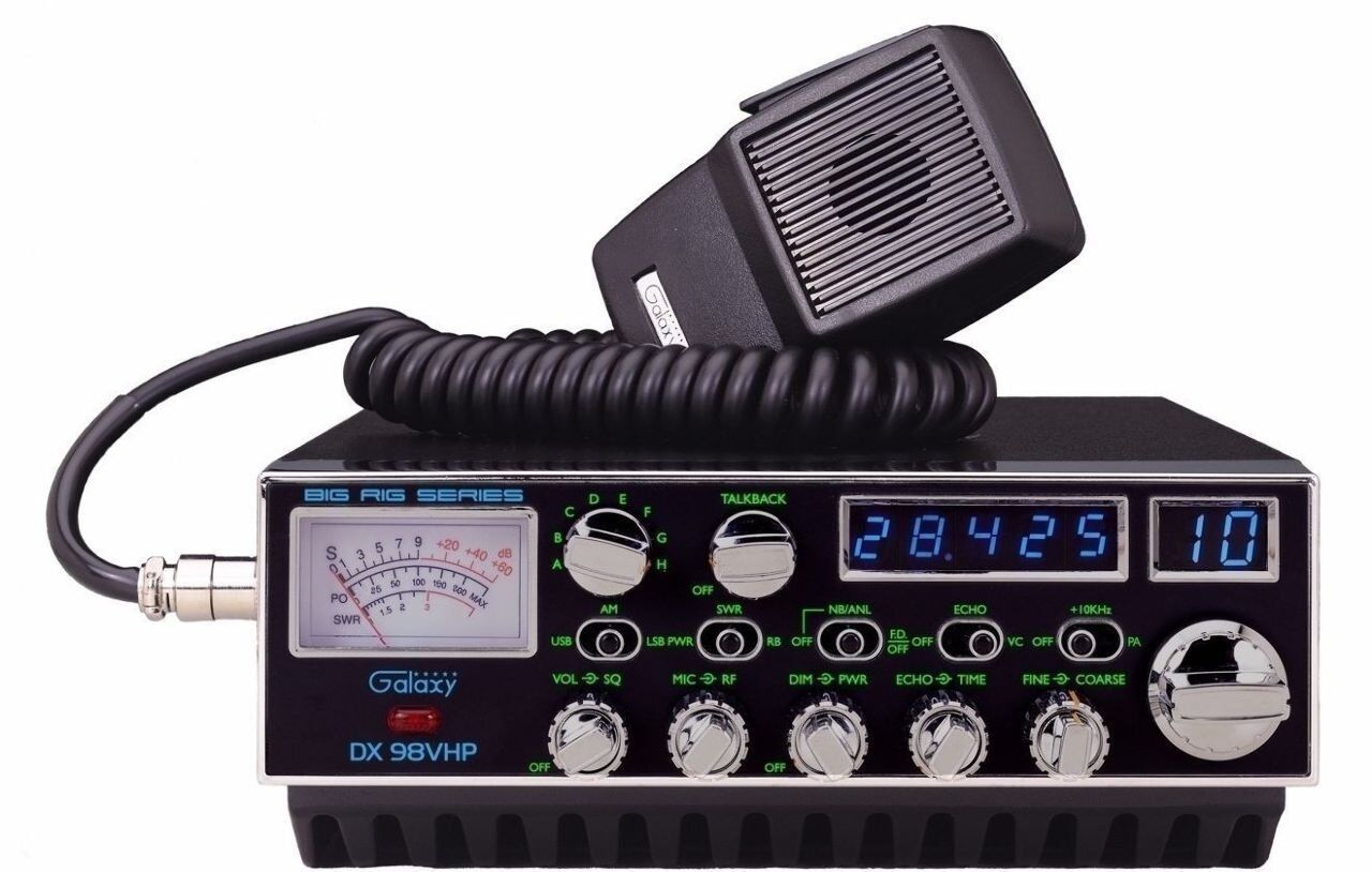 Galaxy DX-98VHP 200 Watt 10 Meter Trucker CB Radio with Sing