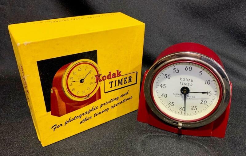 Vintage KODAK TIMER + Original Box Photo Film Developing Darkroom Lab EUC Works