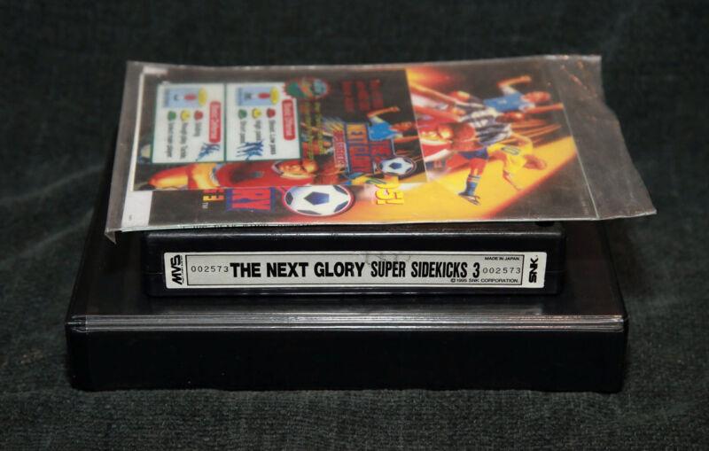 Super Sidekicks 3 MVS Cartridge w/Art • Neo Geo JAMMA Arcade System • SNK Soccer